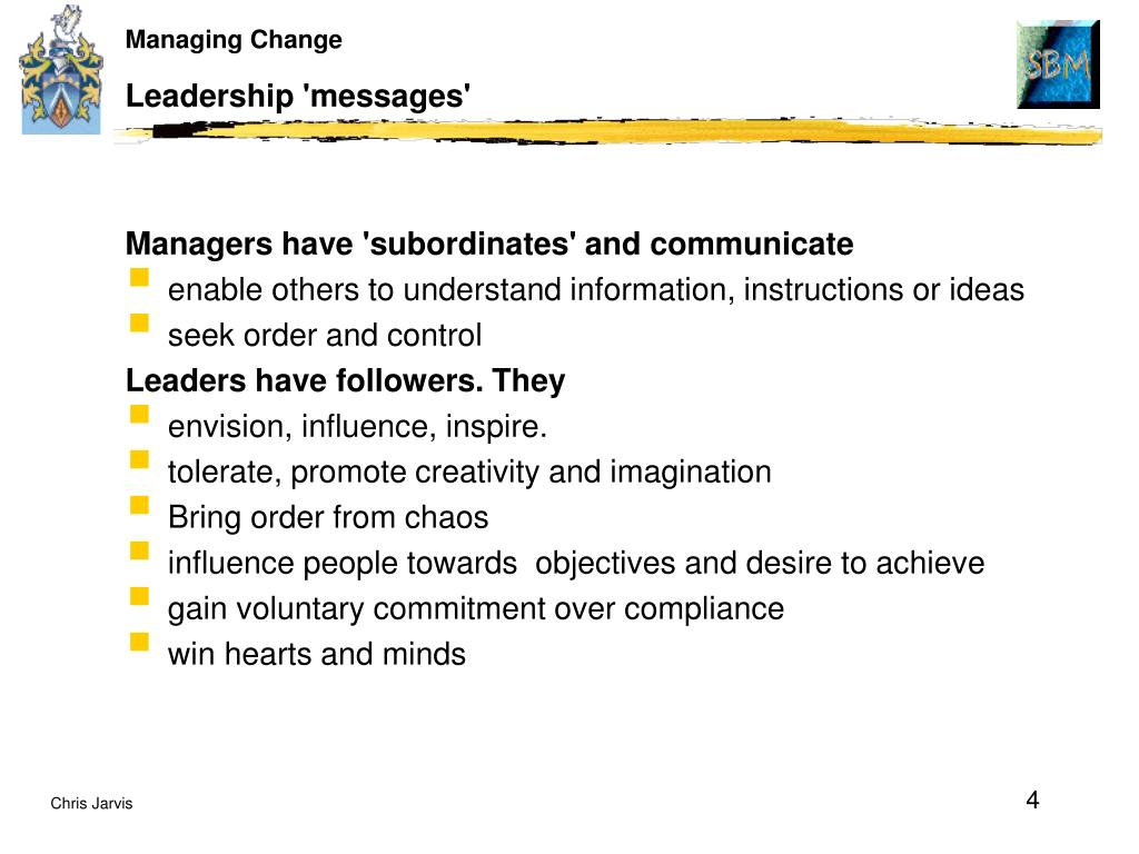 Leadership 'messages'