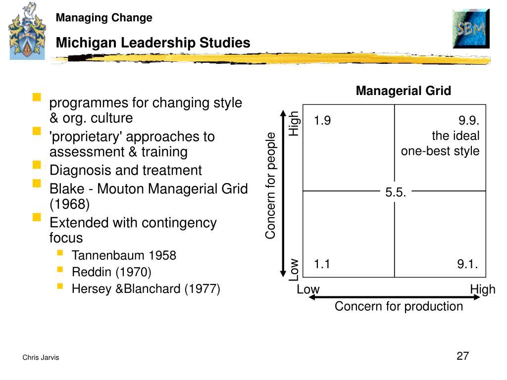 Michigan Leadership Studies