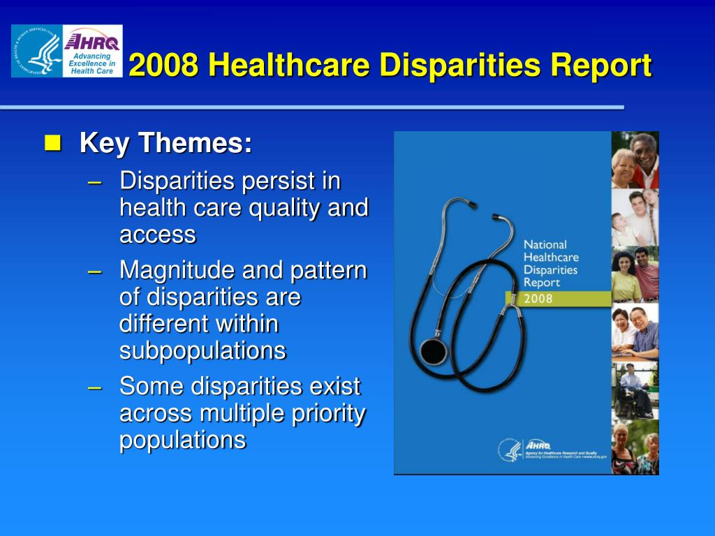 2008 Healthcare Disparities Report