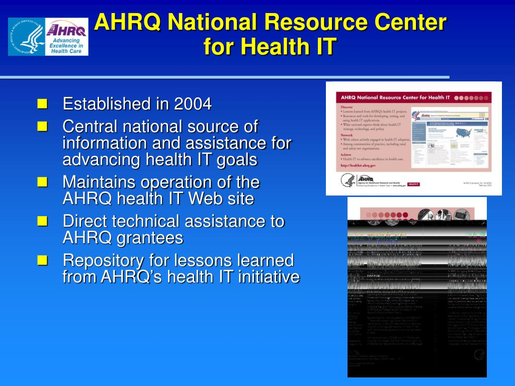 AHRQ National Resource Center for Health IT