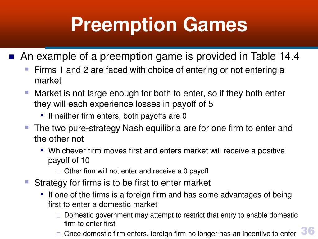Preemption Games