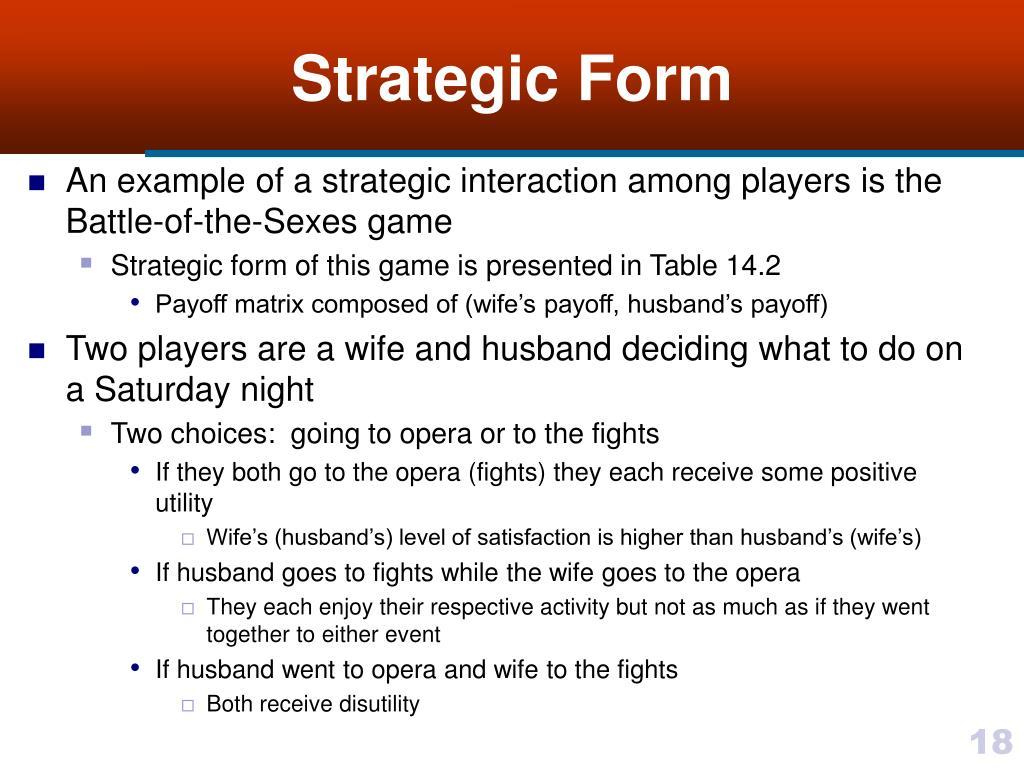 Strategic Form