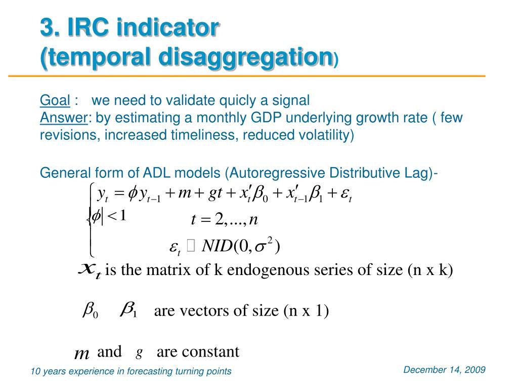 3. IRC indicator
