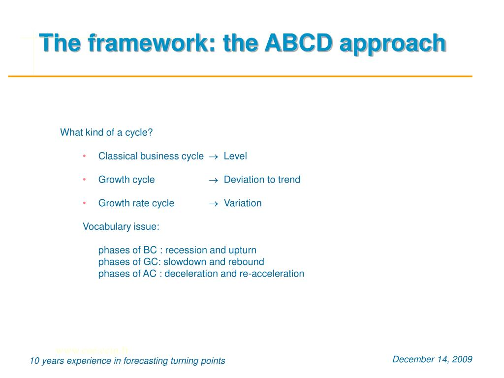The framework: the ABCD approach