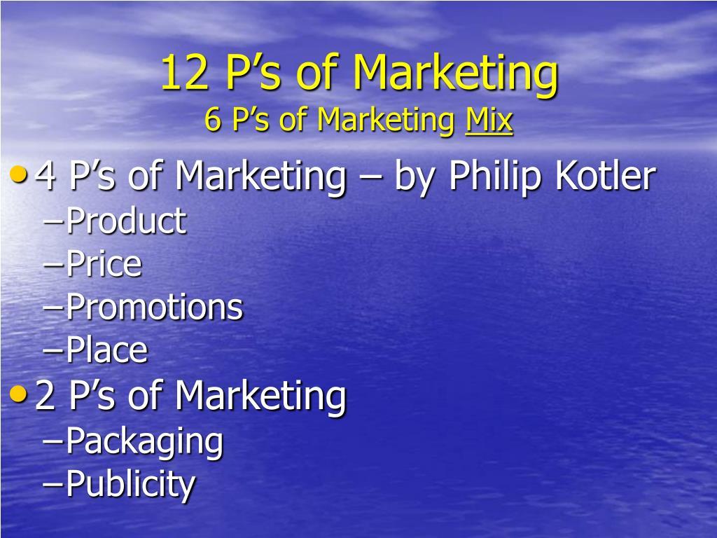 12 P's of Marketing