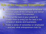 role of the corporate entrepreneur