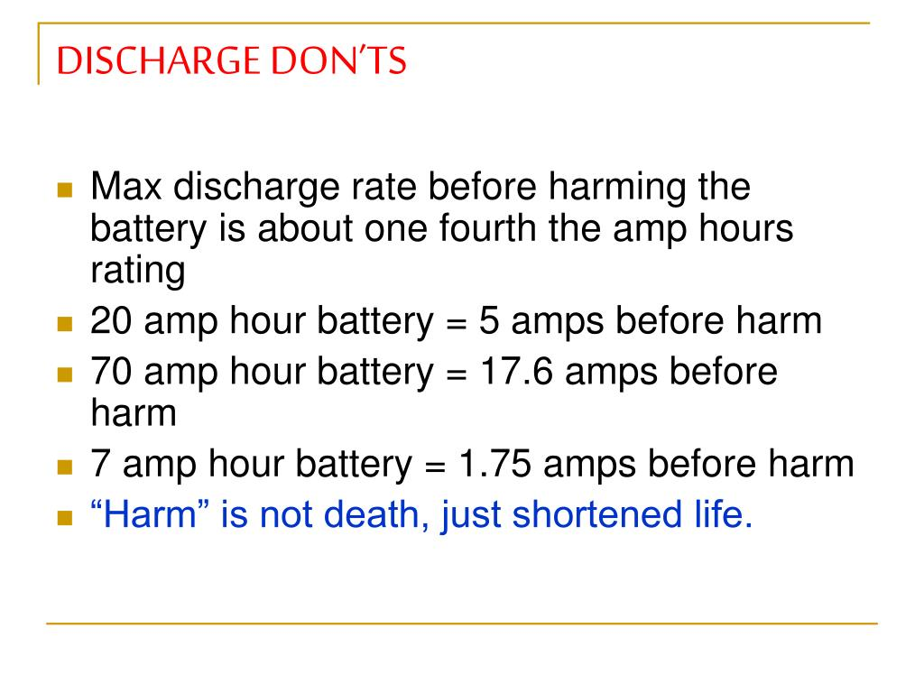 DISCHARGE DON'TS