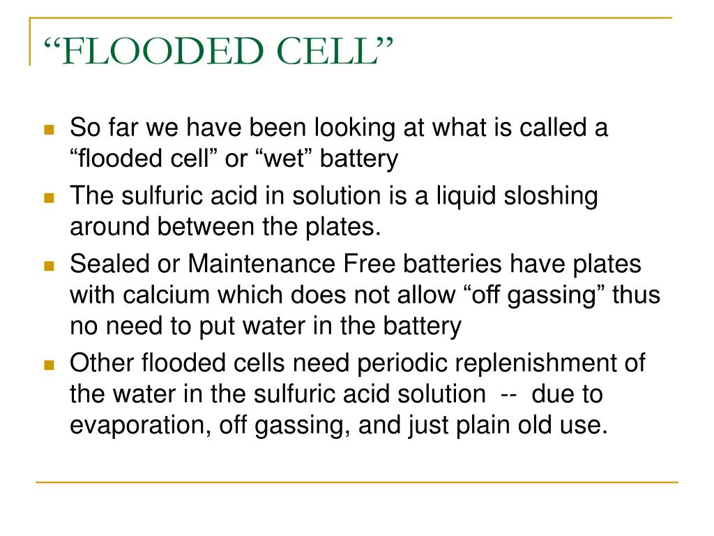 """FLOODED CELL"""