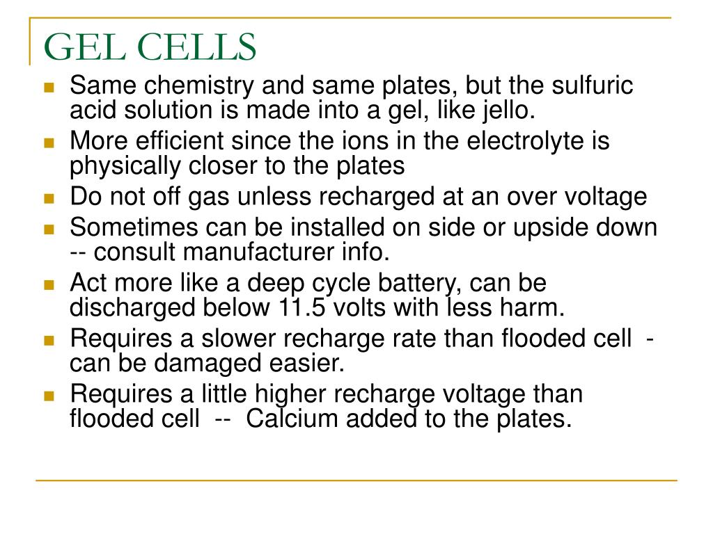 GEL CELLS
