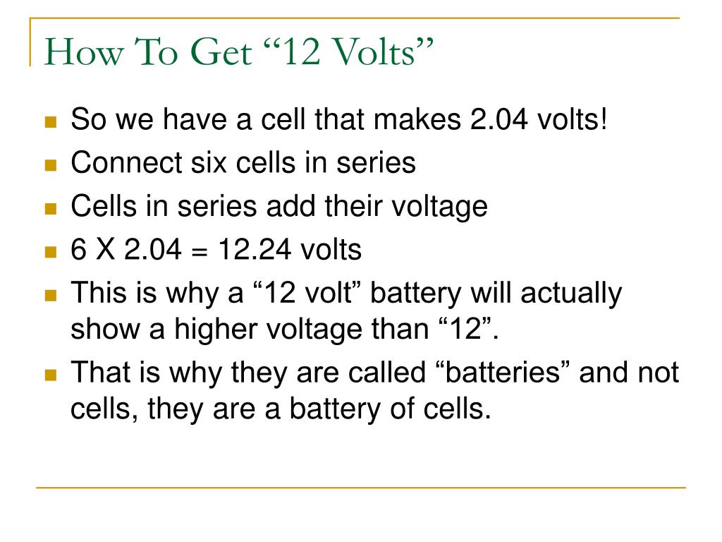 "How To Get ""12 Volts"""