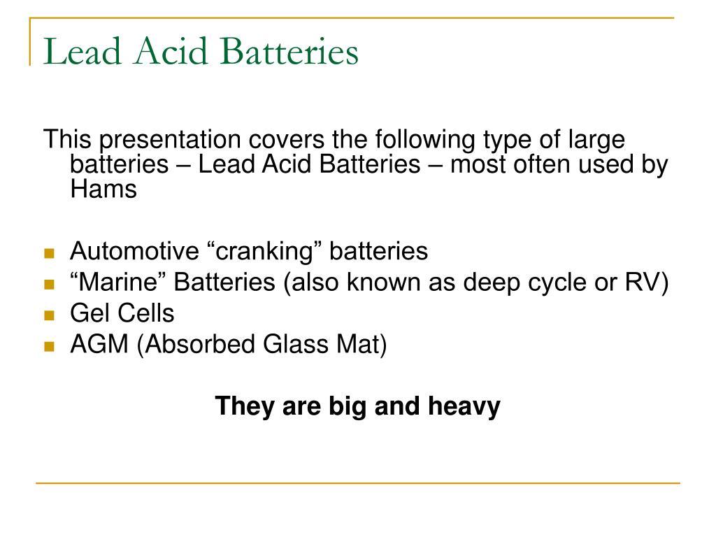 Lead Acid Batteries