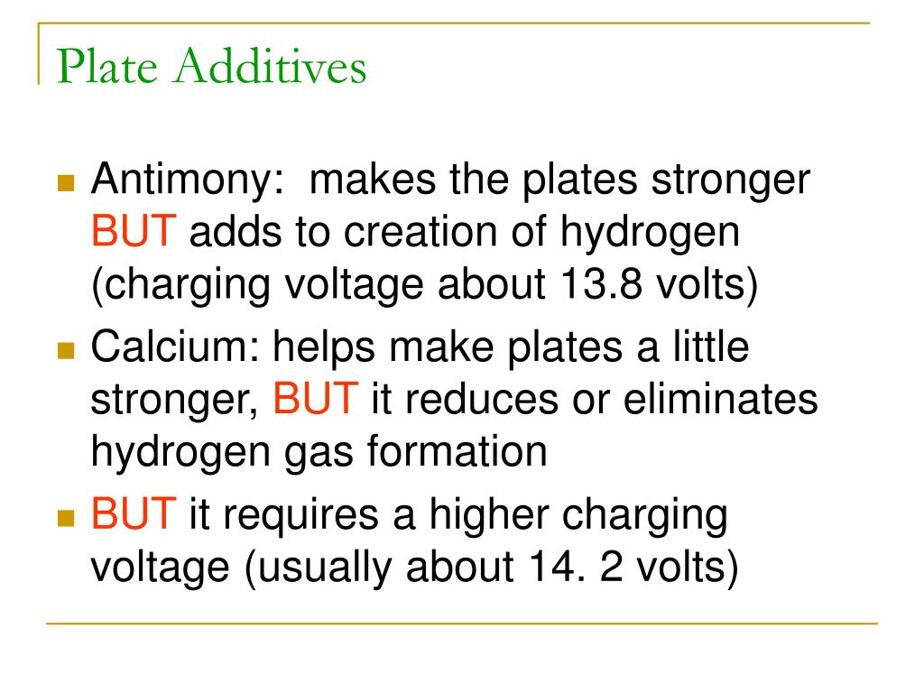 Plate Additives