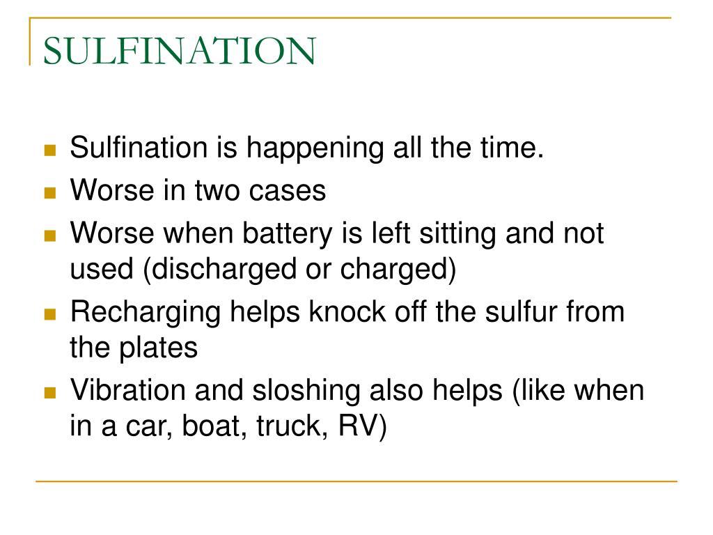 SULFINATION