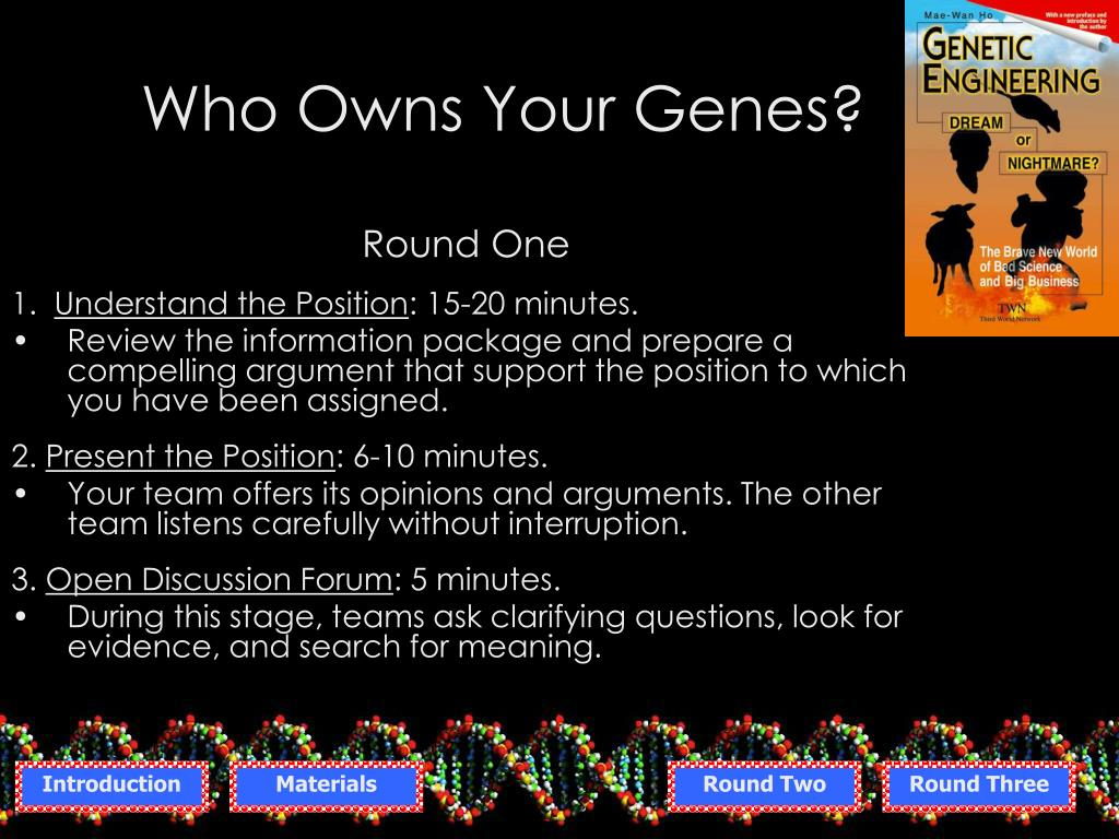 Who Owns Your Genes?