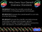 who owns your genes overview standards