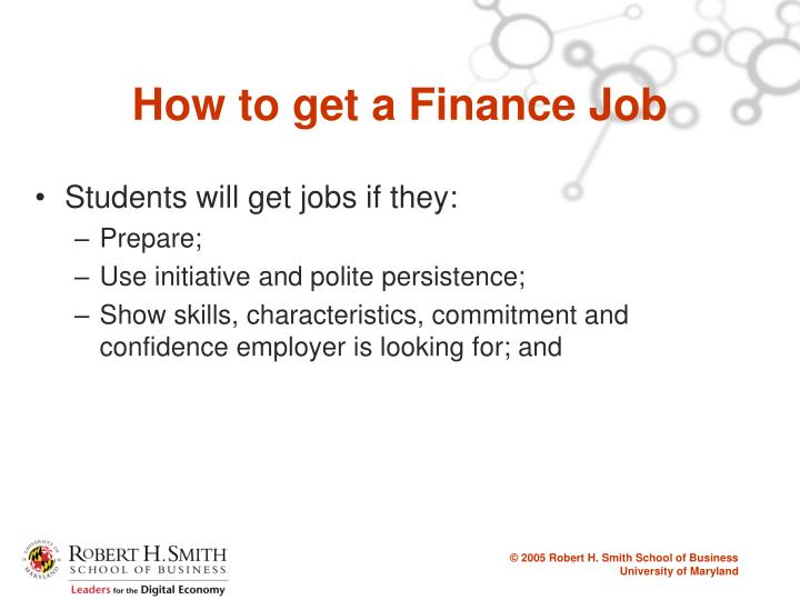 How to get a Finance Job