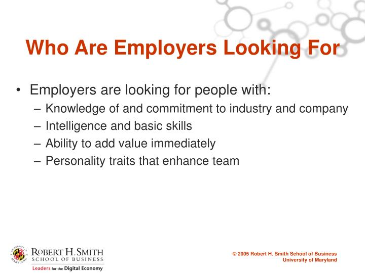 Who Are Employers Looking For