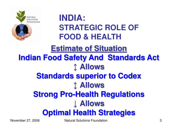 India strategic role of food health3 l.jpg