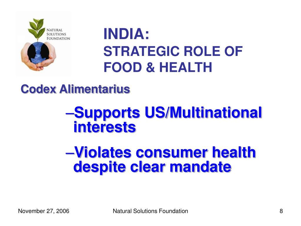 INDIA: