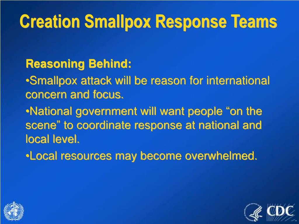Creation Smallpox Response Teams