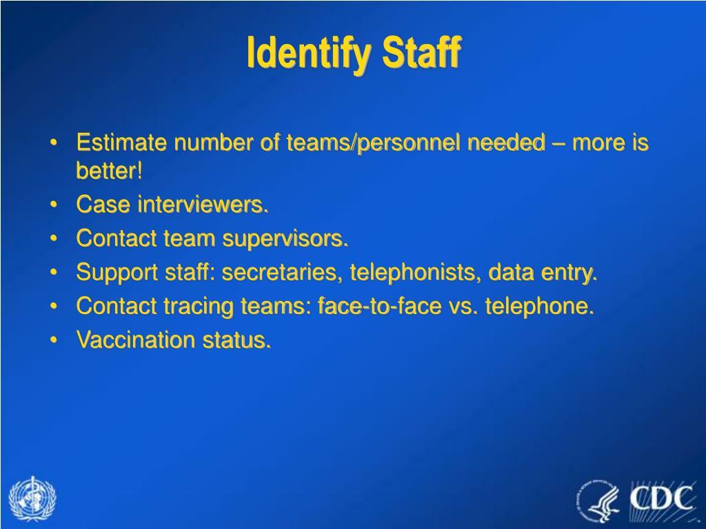 Identify Staff