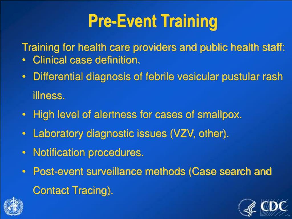 Pre-Event Training
