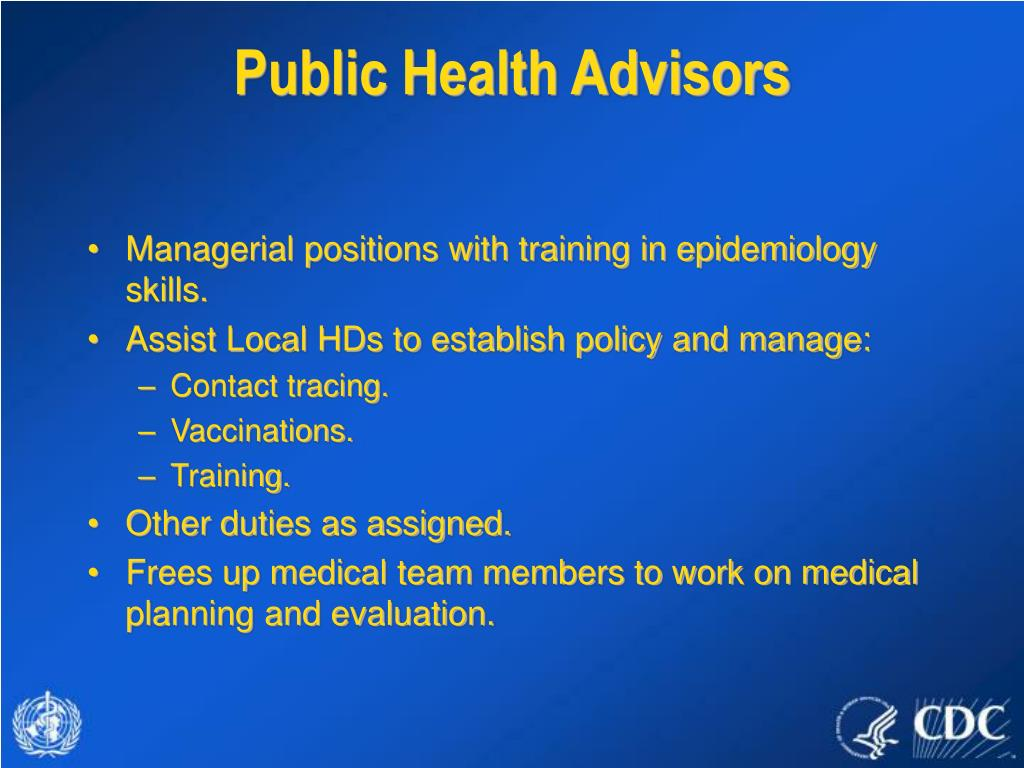 Public Health Advisors
