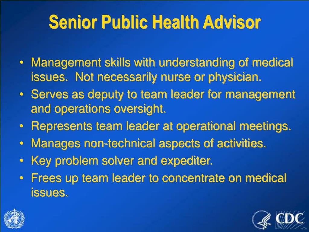 Senior Public Health Advisor