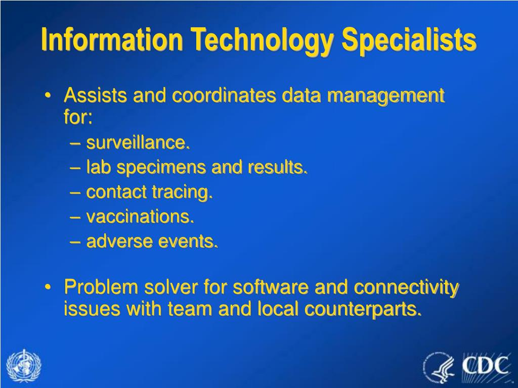 Information Technology Specialists