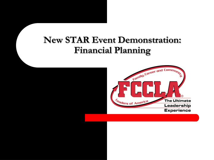 New star event demonstration financial planning