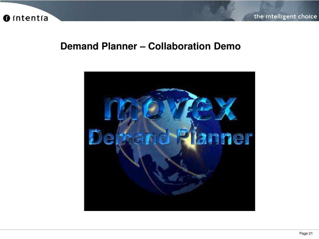Demand Planner – Collaboration Demo