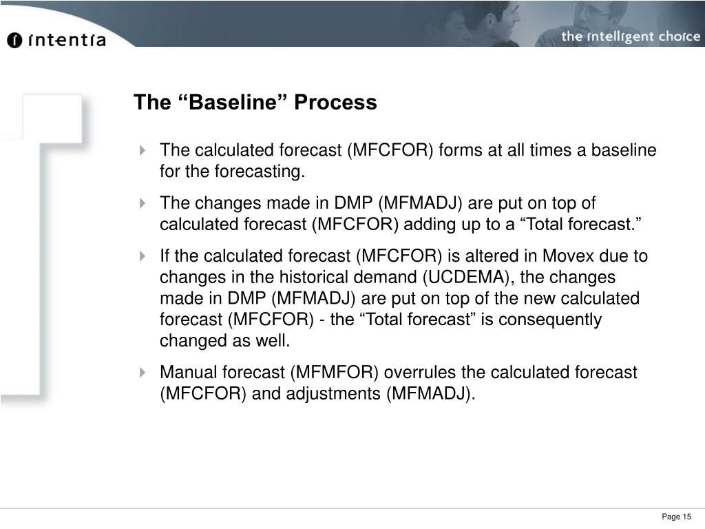 "The ""Baseline"" Process"