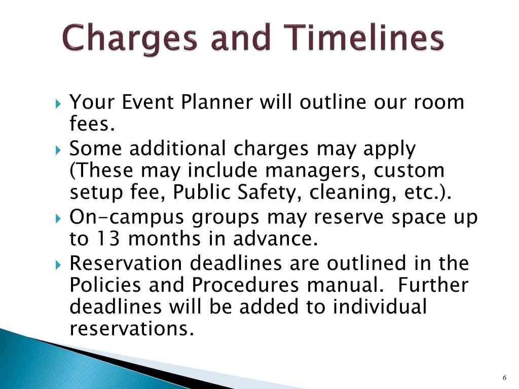 Charges and Timelines