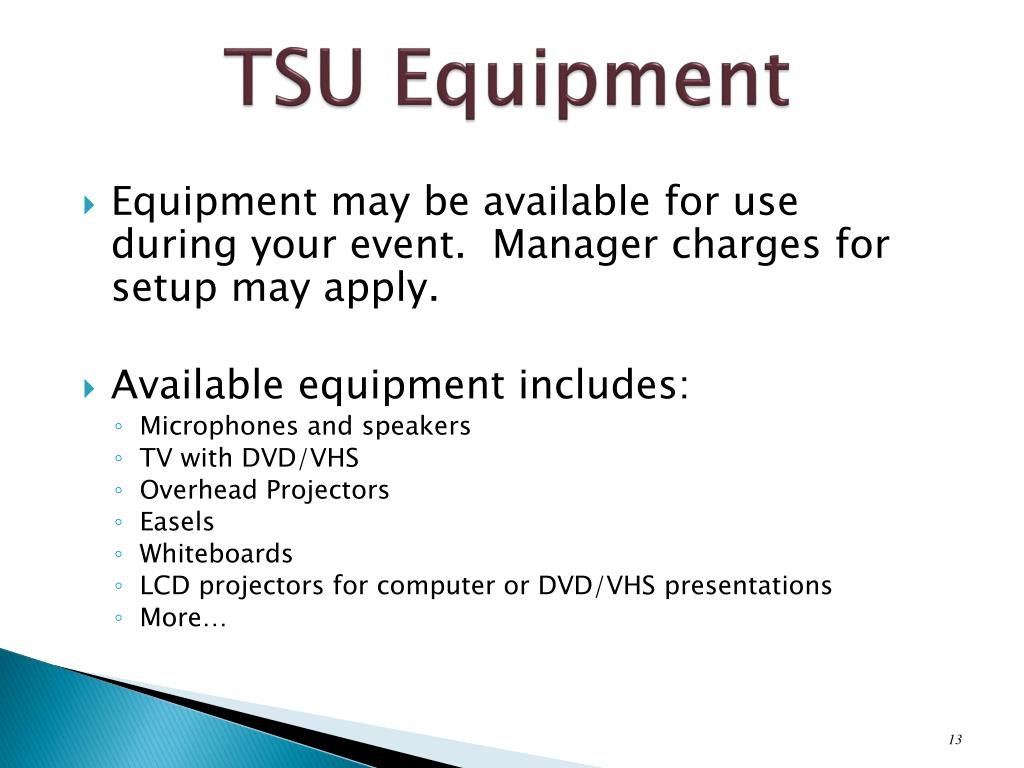 TSU Equipment
