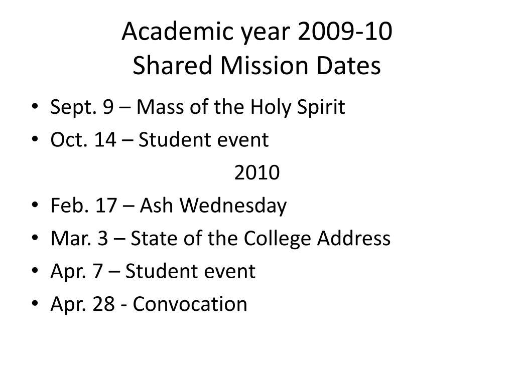 Academic year 2009-10