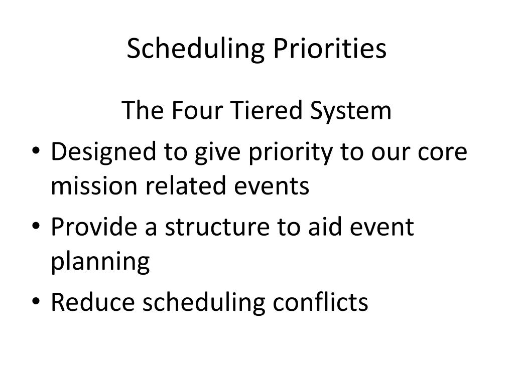 Scheduling Priorities