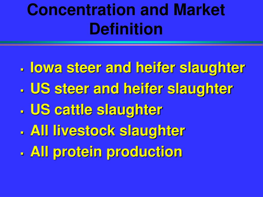 Concentration and Market Definition
