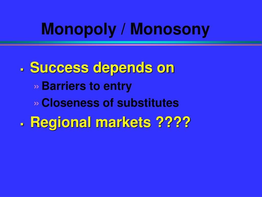 Monopoly / Monosony