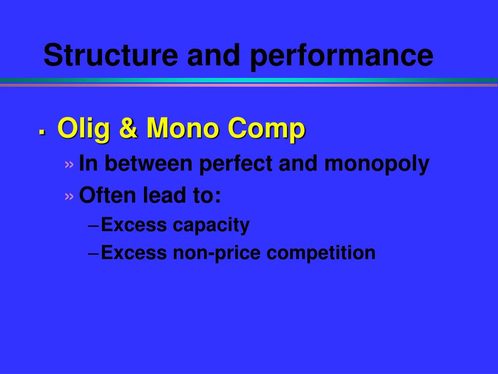 Structure and performance