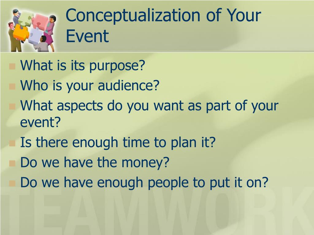 Conceptualization of Your Event