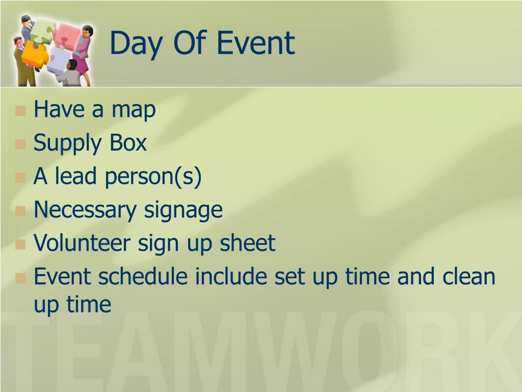 Day Of Event