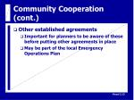 community cooperation cont14