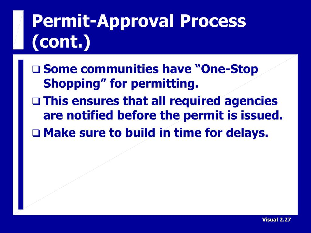 Permit-Approval Process (cont.)