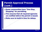 permit approval process cont28