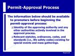 permit approval process