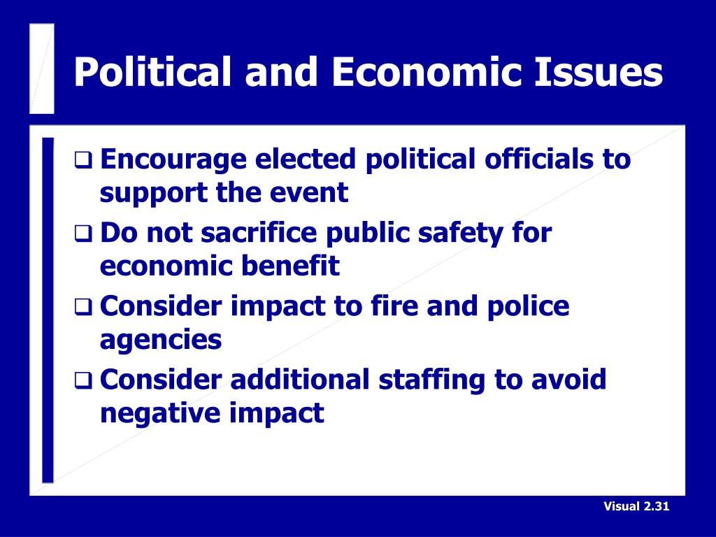 Political and Economic Issues