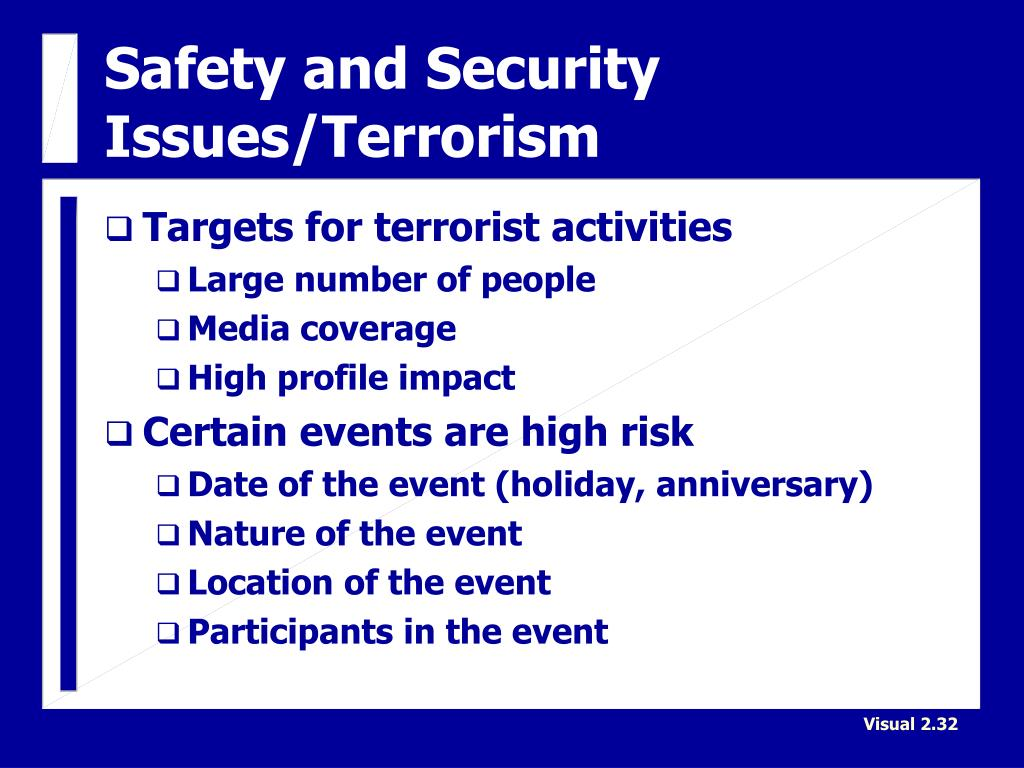Safety and Security Issues/Terrorism