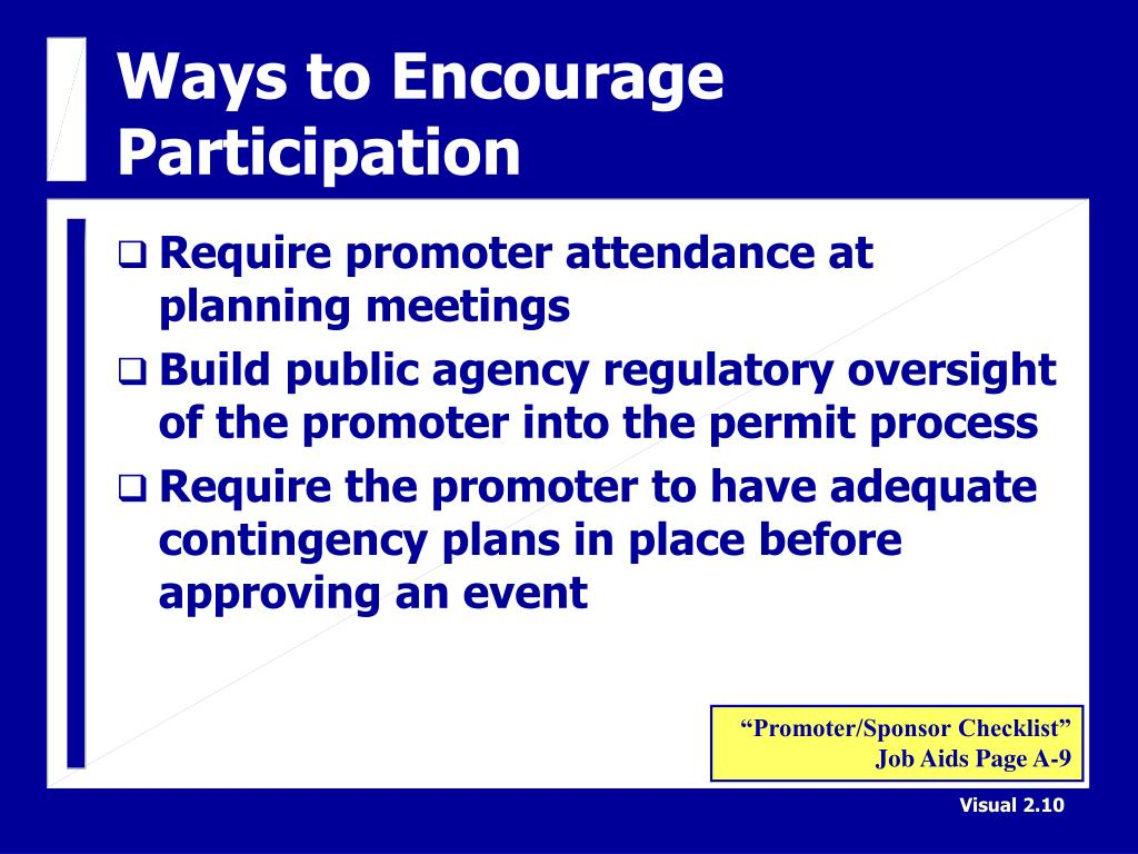 Ways to Encourage Participation