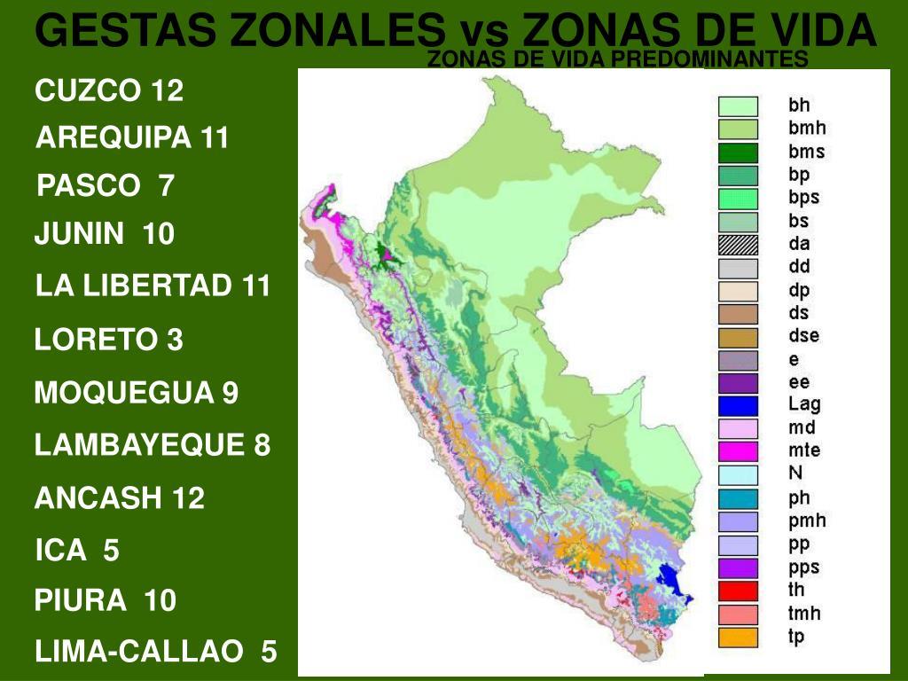 GESTAS ZONALES vs ZONAS DE VIDA