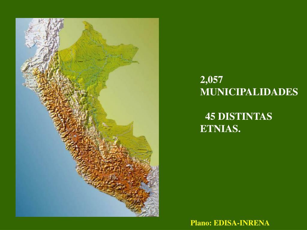 2,057 MUNICIPALIDADES